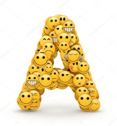 Emoticons letter A Smile Wallpaper, Cute Emoji Wallpaper, Cute Cartoon Wallpapers, Emoji Pictures, Emoji Images, Smiley Emoji, Whatsapp Smiley, Cute Images For Dp, Smiley Happy
