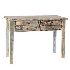 Mesa con cuatro cajones, 104 x 40 x 78 cm Retro, Entryway Tables, Desk, Furniture, Home Decor, Dining Room Tables, Consoles, Desks, Desktop