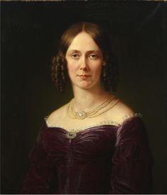 Karl Jakob Theodor Leybold - Porträt der Pauline Freifrau von Koenig-Warthausen (1842)