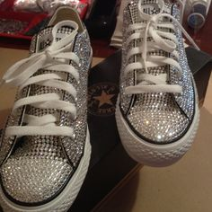Pic of Blinged Converse after I finished them...My Favorite!