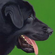 Black Lab Pet Portrait |LeahDaviesArt.com