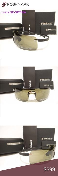 9966389df03e Tag Heuer 5102 Sunglasses 201 Black Authentic New These are 100% Genuine
