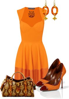 """Orange Glaze"" by strawberrybrownie ❤ liked on Polyvore"