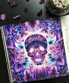 """86 Likes, 3 Comments - Babsy S. (@colourmanic) on Instagram: """"Credit to @black_aneri : Crazy purple  #magicaljungle by #johannabasford  #kohinoorhardtmuth…"""""""