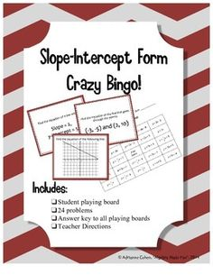 Bingo is fun, but there is a BIG problem: Students can't work at their own pace, which means that some don't get to finish the problems while others sit there bored.  This game eliminates that problem! Each student gets a BINGO board, but they select a problem to work on from a pile, work it through at their own pace, and then cross out that answer on their board.