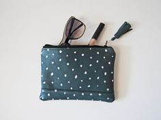 Sophie Mini Clutch in Metallic Dots and by aperfectmessvintage, $30.00
