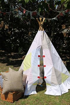 Love Jess' Tee Pee + Easy instructions. Cant wait to make one for bub