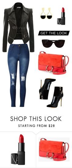 """""""Cool Moto Look"""" by rubylee-ii on Polyvore featuring NARS Cosmetics, Chloé and Tiffany & Co."""