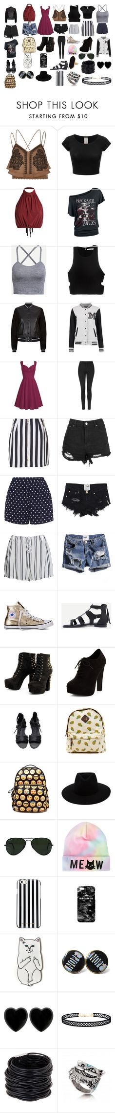 Untitled #246 by toxicupcakes on Polyvore featuring T By Alexander Wang, River Island, rag & bone, Boohoo, Topshop, Zizzi, WithChic, New Look, Converse and Saachi