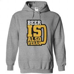 Beer is also vegan - #hoodies for men #mens zip up hoodies. ORDER NOW => https://www.sunfrog.com/Funny/Beer-is-also-vegan-SportsGrey-Hoodie.html?id=60505