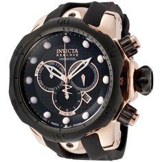 Invicta Men's Reserve Black Polyurethane Chronograph Watch by Invicta