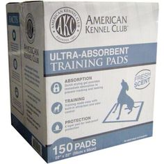 Puppies Dogs Training Pads Smell Fresh Scent Pack of 150 American Kennel Club #AmericanKennelClub #Freshscent