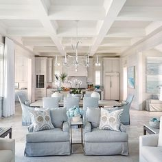 fine The Battle Over Beautiful Traditional Living Room Decor Ideas And Remodel a. fine The Battle Over Beautiful Traditional Living Room Decor Ideas And Remodel and How to Win It Th Beach Living Room, Coastal Living Rooms, Home Living Room, Living Room Designs, Coastal Cottage, Apartment Living, Blue Living Rooms, Living Room And Kitchen Together, Blue And White Living Room