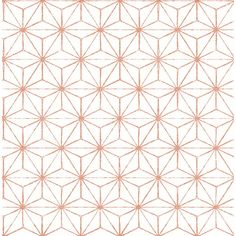 A-Street 8 in. x 10 in. Orion Coral (Pink) Geometric Wallpaper Sample
