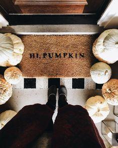 Adorable pumpkin door mat for fall