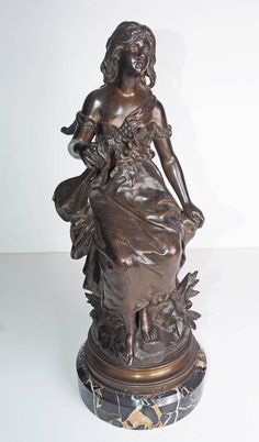 """Mignon"" French Bronze by Hippolyte Moreau 1890"