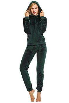 2tlg Damen Trainingsanzug Jogging Hose Pullover Set Sportkleidung Hausanzug