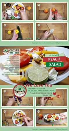 Summer fresh peach salad recipe - CLOVER SISTERS