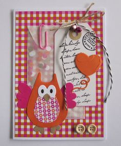 Marianne Design Cards, Owl Card, Mail Art, Art School, Old Things, Paper Crafts, Stamp, Holiday Decor, Snail Mail
