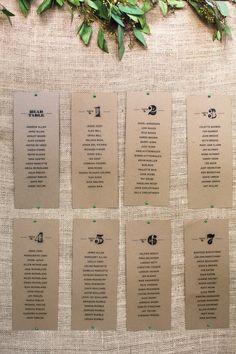wedding seat charts