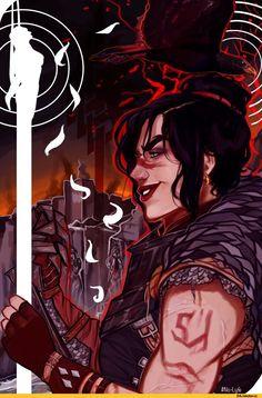 Dragon Age,фэндомы,FemHawke,DA персонажи,hashtag-sarahsart,DA таро,DA2