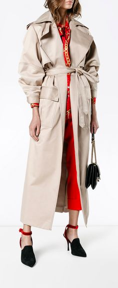MICHAEL LO SORDO oversized trench coat, explore new season coats on Farfetch now.