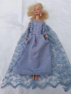 Barbie`s dress Velcro Tape, Cotton Lace, Blue Lace, Disney Frozen, Fashion Dolls, Lace Dress, Barbie, Dresses, Vestidos