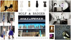 Moodboard Portfolio Wolf and Badger