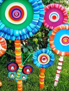 10 idéias de flores com tampinhas de garrafas - Artesanatos Reciclagem - O mundo do reaproveitamento!