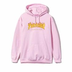 THRASHER magazine sweat-shirt/pull-over oversize à capuche homme/femme hoodies-hooded d'automne/printemps hip-hop manches longues rose