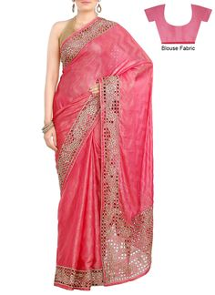 use this idea for aai's plain red saree for which I am thinking of using red cutwork lace and palla