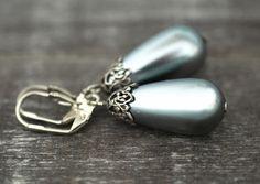 Ohrringe - Original 70er Japanische Vintage Perlen Ohrringe - ein Designerstück von madamlili bei DaWanda