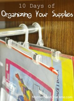 10 ways to organize your craft and school supplies
