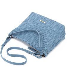 Kendall Nicoulin (215 SAR) ❤ liked on Polyvore featuring bags, handbags, shoulder bags, shoulder handbags, shoulder bag purse, shoulder strap bag, woven leather handbag and blue handbags