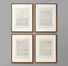 Framed sheet music - Aerie Fairies! The first thing I learned to play on the piano : )