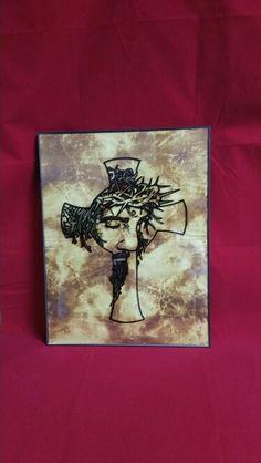 Jesus cross frame art