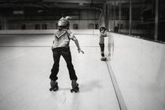 learning to skate.  photo