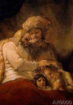 Harmensz van Rijn Rembrandt - Jacob's Blessing (74,0 x 105,0 cm)