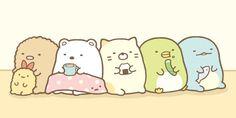 Cute Bear Drawings, Cute Little Drawings, Cute Kawaii Drawings, Sanrio Characters, Cute Characters, Cartoon Pics, Cute Cartoon Wallpapers, Sumiko Gurashi, Small Canvas Paintings