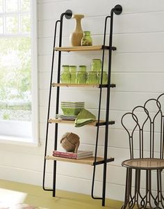 this would be great as either a plant shelf or for the bathroom with rolled towels and misc items