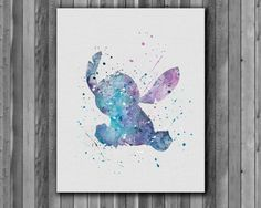 Stitch  Lilo & Stitch disney   watercolor Art by digitalaquamarine