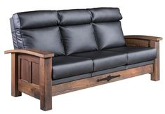 Amish Kimbolton Sofa This is luxury. Shaker style sofa in choice of wood, finish and upholstery. Amish made in America. Shaker Furniture, Amish Furniture, Solid Wood Furniture, Living Room Seating, Living Room Sofa, Quarter Sawn White Oak, Family Room Furniture, Custom Sofa, Wood Sofa