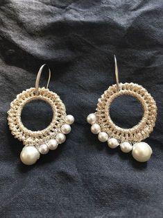 19 Ideas crochet jewelry earrings wire bracelets Informations About 19 Ideas crochet jewelry earring Tatting Jewelry, Boho Jewelry, Beaded Jewelry, Jewelery, Jewelry Design, Nautical Jewelry, Fashion Jewelry, Diy Earrings, Earrings Handmade