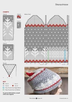 """Photo from album """"The Knitter on Yandex. Knitted Mittens Pattern, Knit Mittens, Knitted Hats, Knitting Patterns, Fair Isle Knitting, Little Red, Knit Beanie, Pulls, Knit Crochet"""