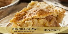 NATIONAL PIE DAY – December 1