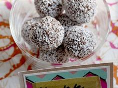 Dark Chocolate Truffles With Champagne and Coconut Flakes Recipe