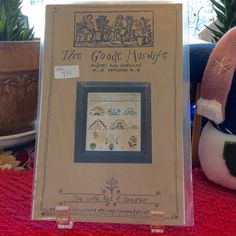 The Good Huswife Little Red Sampler Anne Brown Cross Stitch Pattern by TheLavenderPathHome on Etsy