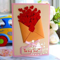 Quality teacher birthday cards with free worldwide shipping on AliExpress Handmade Teachers Day Cards, Greeting Cards For Teachers, Teachers Day Greetings, Teacher Thank You Cards, Thank You Greeting Cards, Teachers Day Gifts, Thank You Cards From Kids, Greeting Cards Handmade, Kids Gifts