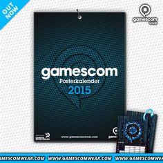 Get your gamescom POSTERKALENDER 2015! Jeden Monat ein cooles Poster auf der Rückseite! #celebratethegames #gamescom