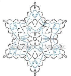 Снежинка большая вязаная крючком ... , snowflake diagram, crochet, snowflake diagram